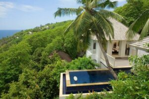 infinity pool Banyan Tree Seychelles
