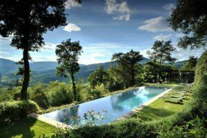 infinity pool Castello di Reschio Umbria Italy