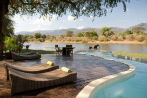 infinity pool Chongwe River House Zambia