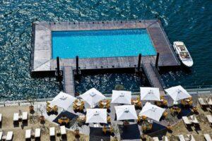 infinity pool Grand Hotel Tremezzo Como Italia