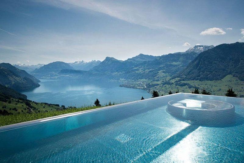 infinity pool Villa Honegg Thuy Si