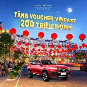 grand world tang voucher vinfast 200 trieu